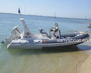 Liya 22FT Rib Boat China Inflatable Boat with Outboard Motor pictures & photos