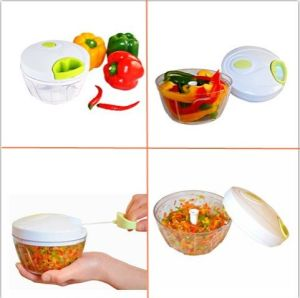 Manual Food Chopper Powerful Hand Held Vegetable Pull Chopper pictures & photos