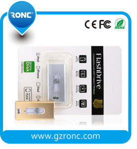 OTG Mobile USB Flash Drive with Connector for iPhone 5, 5s, 5c, 6, 6 Plus, 6s, 6s Plus, iPad pictures & photos