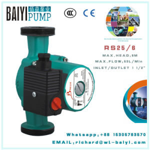 Cold Hot Water Shower Circulator Pump RS25/6 for Floor Heating pictures & photos