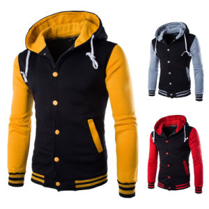 New Wholesale Full Zipper Men Hoodies with Printing pictures & photos