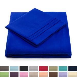 Wholesale Super Soft Hotel Bedding King Bed Sheets China Cheap Luxury Bed Sheet Set with Deep Pocket pictures & photos
