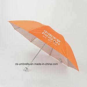 Orange Polyester Anti UV 3 Folding Umbrella (YS3F0003)