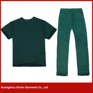 Professional Medical Scrubs Hospital Working Uniform of Cotton (H09) pictures & photos
