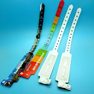 Party event FM1108 RFID disposable smart wrist band pictures & photos