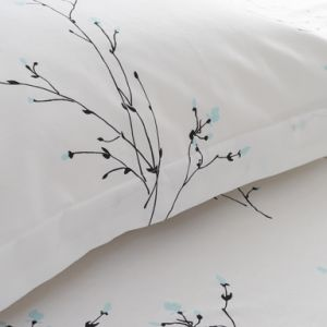 White Luxury Cotton Hotel Printed Bed Sheet Set pictures & photos