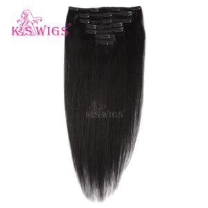 Hair Weft 100% Virgin Brazilian Clip in Human Hair pictures & photos
