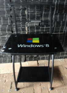 Glass Computer Desk with Windows8
