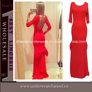 Red Lady Low Back Bridesmaid Dress (T6814) pictures & photos