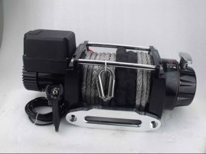 12V 17000lbs Wireless Synthetic Rope Electric Winch 4WD