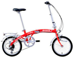 "Red Color 16"" Alloy 6 Speed Folding Bicycle pictures & photos"