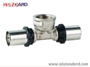 Press Pex-Al-Pex Fitting/Female Thread Brass Fitting for Pex-Al-Pex Pipe pictures & photos
