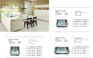 Stainless Steel Handmade Kitchen Sink, Undermount Single Bowl (sgp-001) pictures & photos