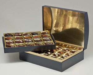 Luxury Golden Paper Chocolate Gift Coffin Box pictures & photos