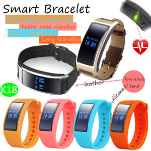 Bluetooth Bracelet with Heart Rate and Blood Pressure Monitor (K18) pictures & photos