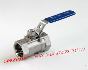 Stainless Steel 1-PC Ball Valve, Threaded pictures & photos