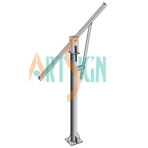 Single Pole Kit Component for Pole Ground Mounting System pictures & photos