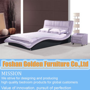 Leather Bed (2821) pictures & photos