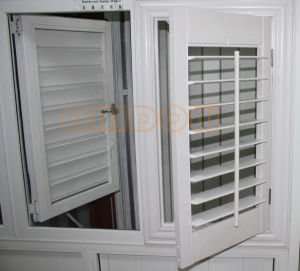 China vinyl louver window interior decorative shutter - Decorative interior wall shutters ...