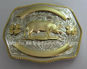 12 Animal 3D Alloy Gold and Nickel Belt Buckle (PM-002) pictures & photos