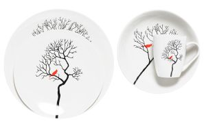 Bird in Forest Ceramic Place Setting Serving for 4 pictures & photos