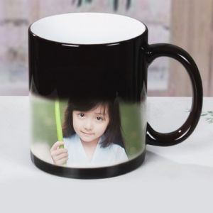 Ceramic Coated White Cup Color Changing Magic Sublimation Mug pictures & photos