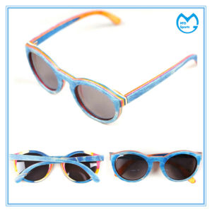 Cheap Polarized Ultraviolet Handmade Eyewear Wooden Sunglasses pictures & photos