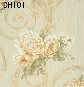 High Quality Italy Design Deep Embossed Vinyl Wallpaper (450g/sqm) pictures & photos