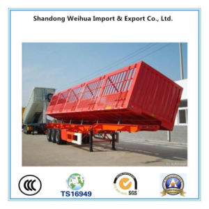 Popular Stake Fencetruck Semi Trailer with Size 13m * 2.5m * 3.6m pictures & photos