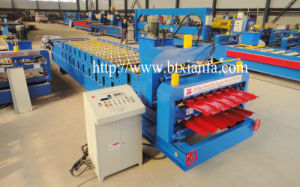 Color Steel Roof Panel Glaze Tile Roll Forming Machine