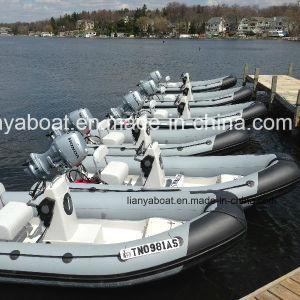 Liya 4.2-5.0m Inflatable Boat Cheap Rib Boat with Outboard Motor pictures & photos