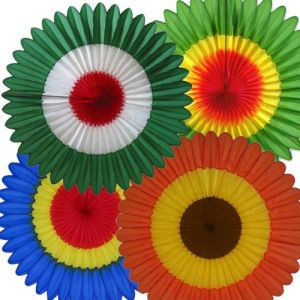 Paper Honeycomb Fan for Party Decoration (KX5-12)