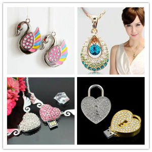 USB Flash Drive Wholesale Crystal Heart Angel USB Stick Swan USB Flash Disk Memory flash Card Lock Pendrives pictures & photos
