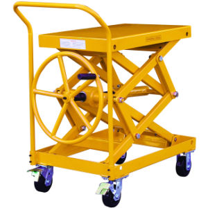 Screw Type Lift Table Truck Without Hydraulic Pump pictures & photos