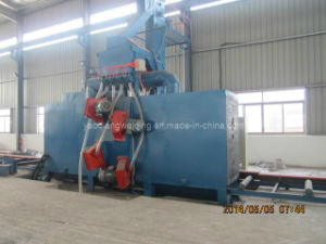 Through Type H Beam Steel Plate Shot Blasting Cleaning Machine pictures & photos