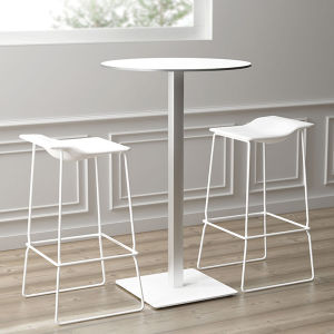 Uispair Modern 100% Steel Table Round Office Home Living Dining Room Bedroom Garden Restaurant Furniture pictures & photos