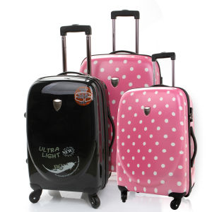 "100% PC Trolley Case, Pure PC Zipper Luggage (PCU-20""24""28"") pictures & photos"