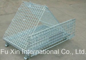 Warehouse Storage Steel Wire Mesh Roll Container with Wheels pictures & photos