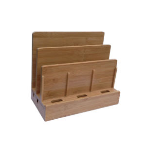 Office Supply Multi Bamboo Charging Box pictures & photos