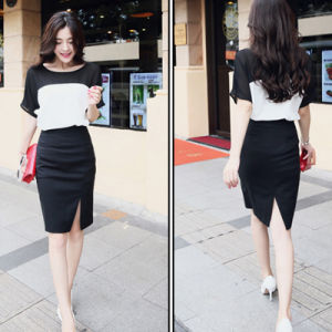 Wholesale New Women′s Middle Skirt Slit Package Hip Stretch Winter Skirt pictures & photos