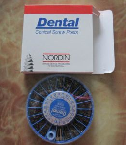 Nordin Dental Screw Post with Stainless Steel