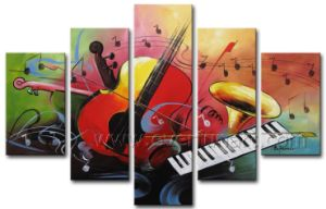 Decorative Wall Art Abstract Violin Oil Painting on Canvas (XD5-071) pictures & photos