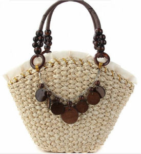 Fast Selling Sunflower Handmade Handbag Straw Bag Beach Bag pictures & photos
