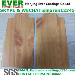 Wood Texture Finish Powder Coating pictures & photos