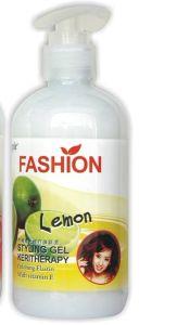 Lemon Fruit Polishing Kerotherapy Hair Elastin Cream for Wave Hair