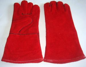 Leather Welding Gloves, Welding Leather Gloves, Safety Welding Gloves (WTWG003) pictures & photos