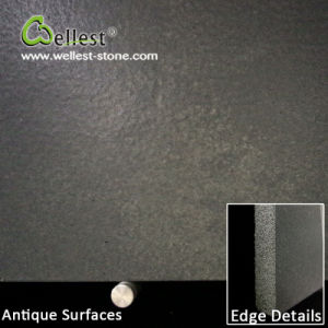 China Black Basalt Bluestone Antique Tile for Floor/Wall Cladding pictures & photos