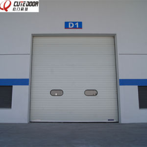 Automatic Electric Motorized Industrial Thermal Insulated Overhead Sectional Door pictures & photos
