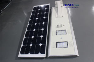 Galvanized Iron Shell 60W LED Solar Powered LED Street Lights with Timer Control (SNSTY-260) pictures & photos