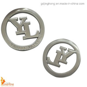 2015 High Quality Round Hollow out Metal Logo Plate for Handbag pictures & photos